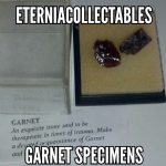 Garnet natural Crystal specimens  15mm  x2